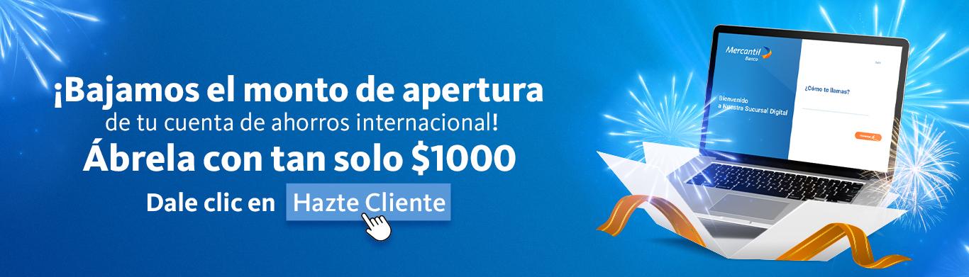 Cuenta Ahorros Internacional